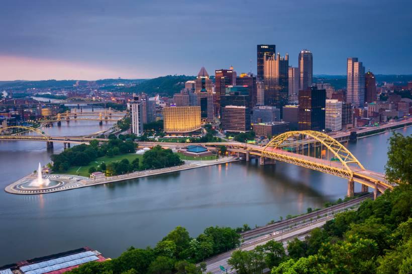 Skyline of Pittsburgh Pennsylvania